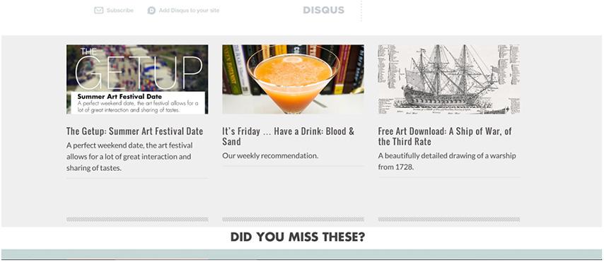 Primer article menu design