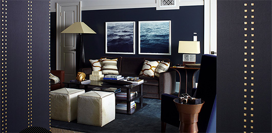 The Intentional Apartment: Get The Look – A Classic Navy Living Room