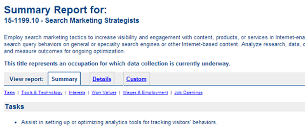 Search marketing strategist report results