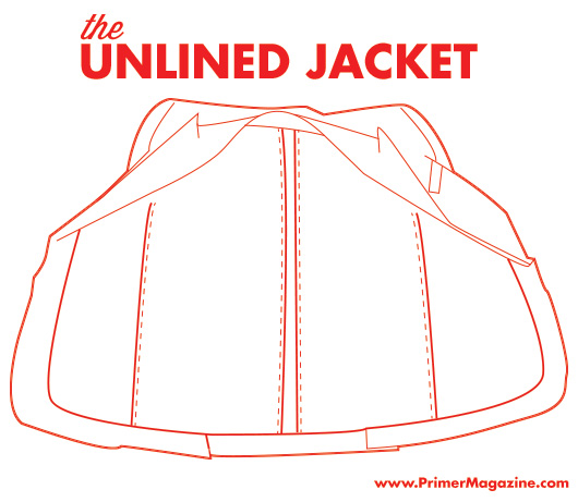 unlined suit jacket