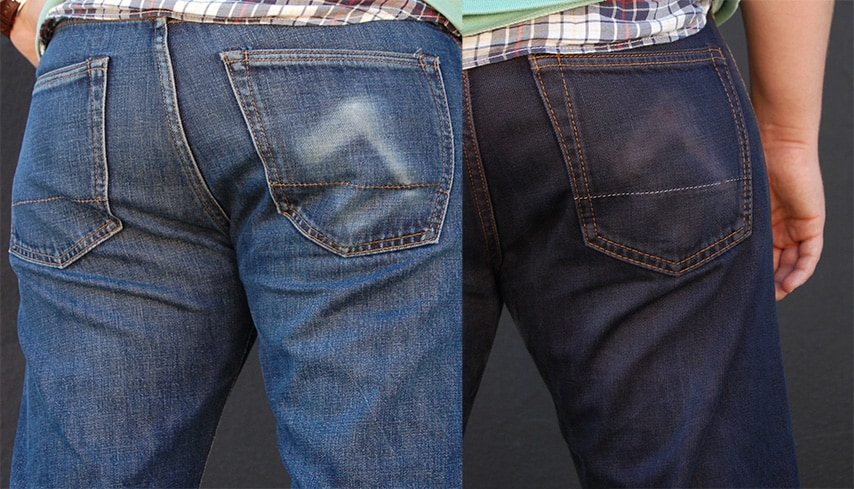 How to dye old pair of jeans to new look again