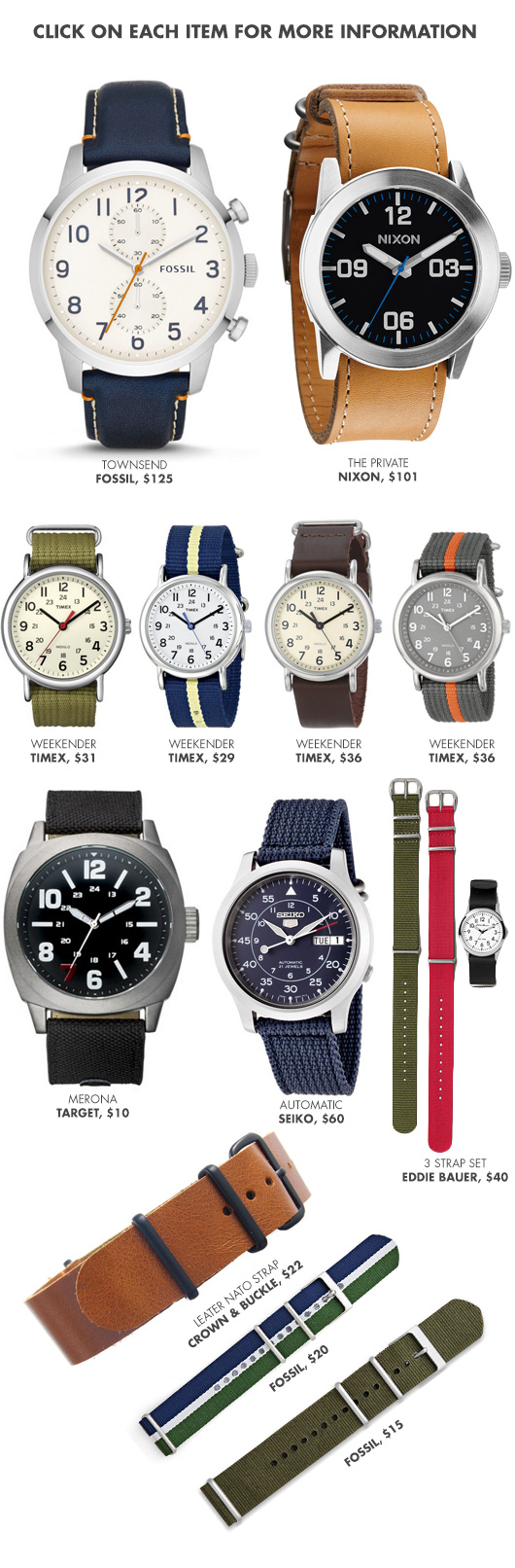 A collage of watches
