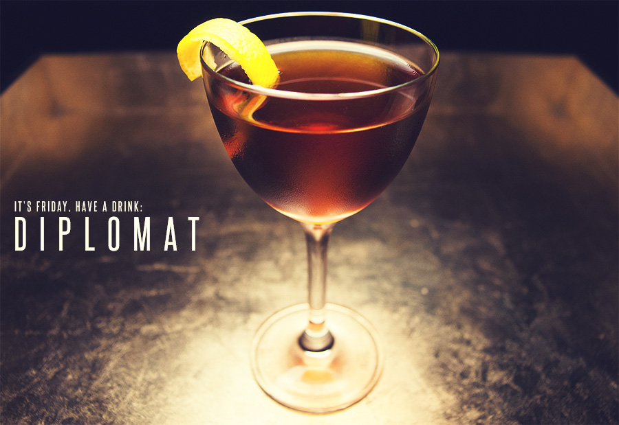 The Diplomat Cocktail Recipe: A Rich, Herbal Vermouth Cocktail