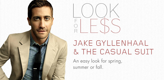Look for Less: Jake Gyllenhaal & The Casual Suit