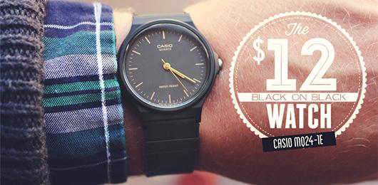 Your New $12 Black-on-Black Watch: The Casio MQ24-1E