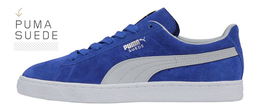 A close up of a Suede Puma