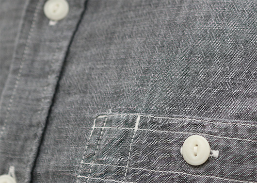 Close up of chambray shirt