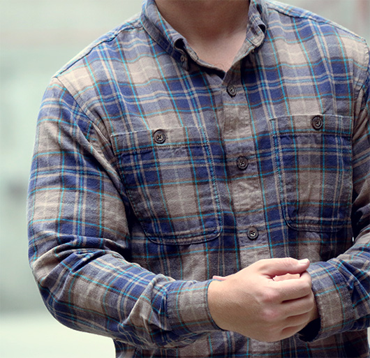 Trim fit flannel from Duluth Trading Co.