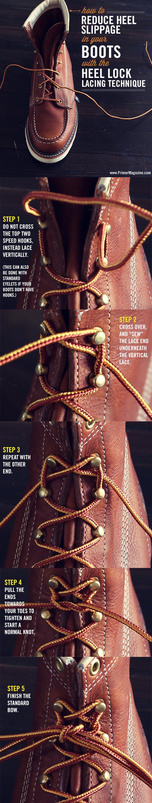lock lacing heel lock boot tie