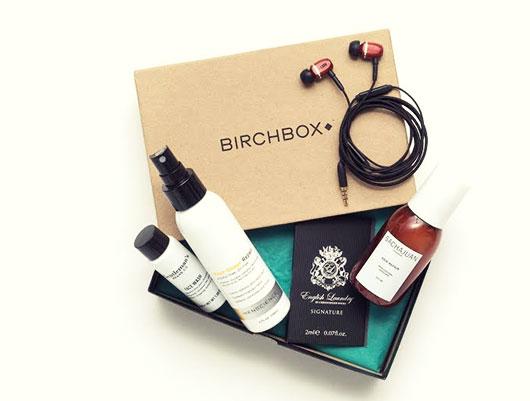 Birchbox on table