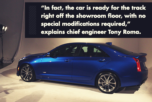 Cadillac ATS-V with engineer quote