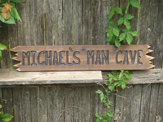 Personalized Man Cave Signs Etsy : 10 manly handmade gifts on etsy for around $50 bonus: 5 stocking