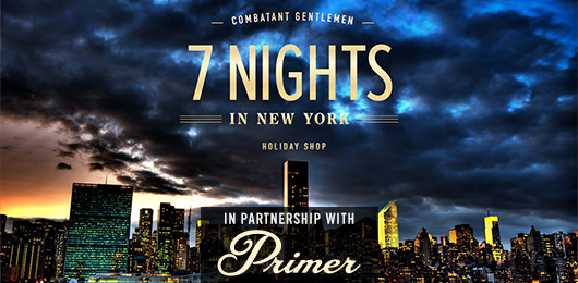 New York Readers! Come Check Out the Combatant Gentlemen in Partnership with Primer Pop-up Shop This Week!