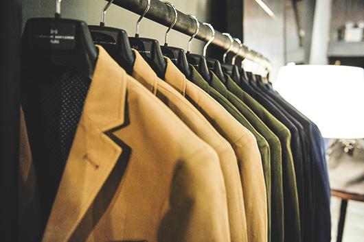 COMBATANT GENTLEMEN jackets on rack