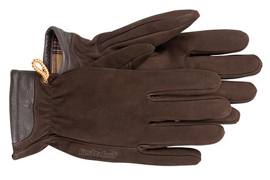 Brown suede gloves