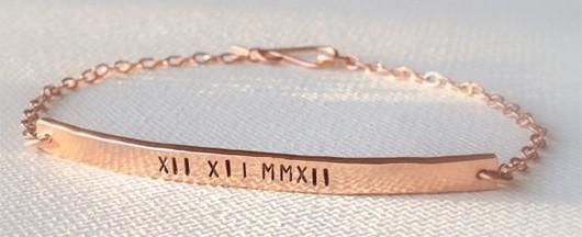 Roman Numeral Bracelet, $46