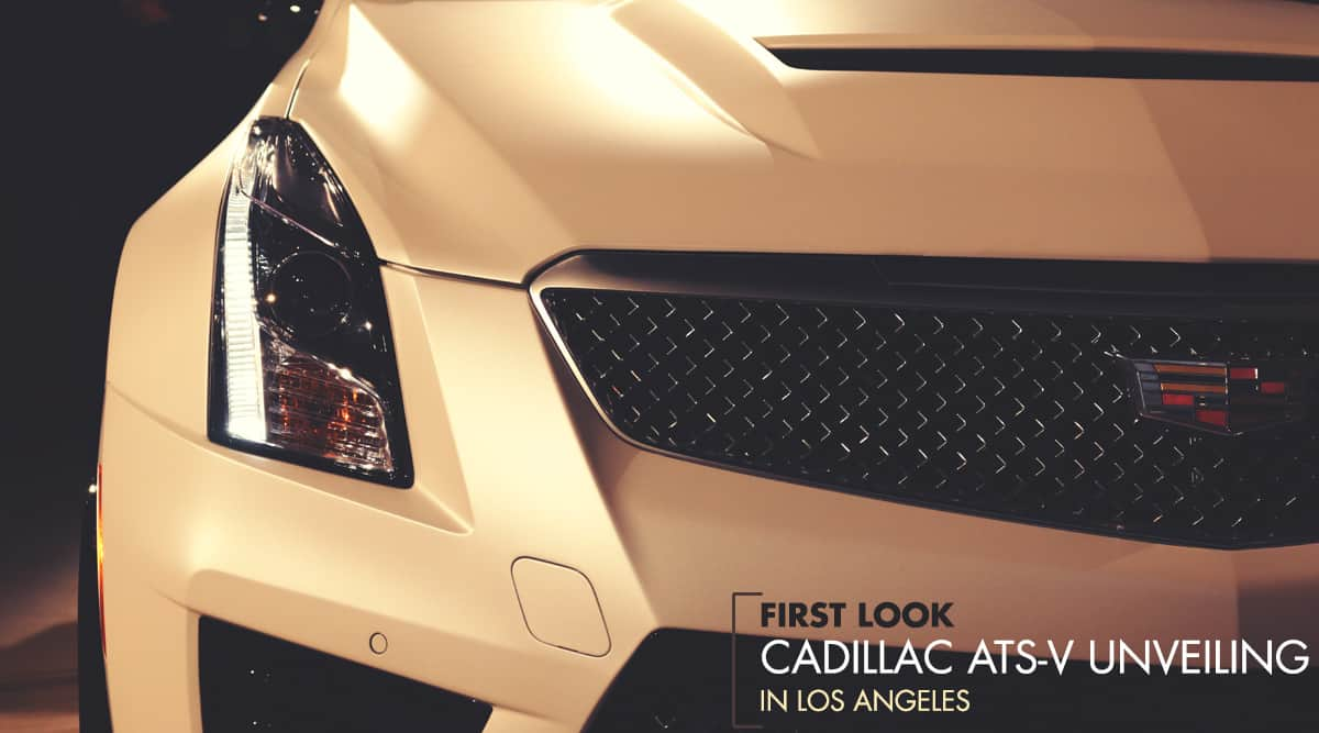 First Look: The Cadillac ATS-V Unveiling in Los Angeles