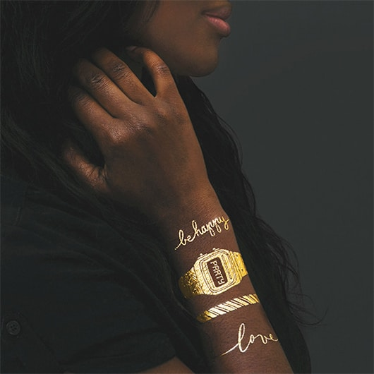 Gold Bracelet Temporary Tattoos, 8 / $18