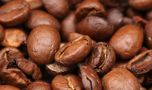Close up of coffee bean