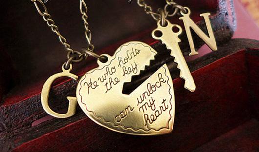 Key to my heard necklace