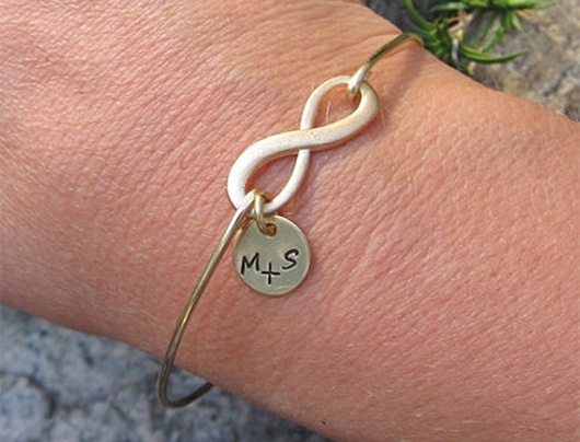 Personalized bracelet with intials