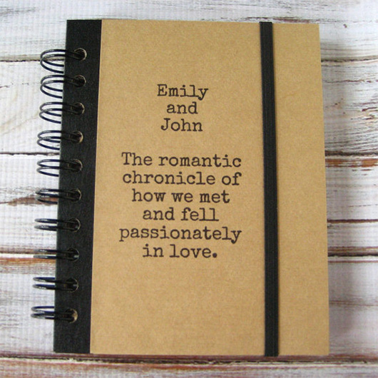 Personalized journal with text