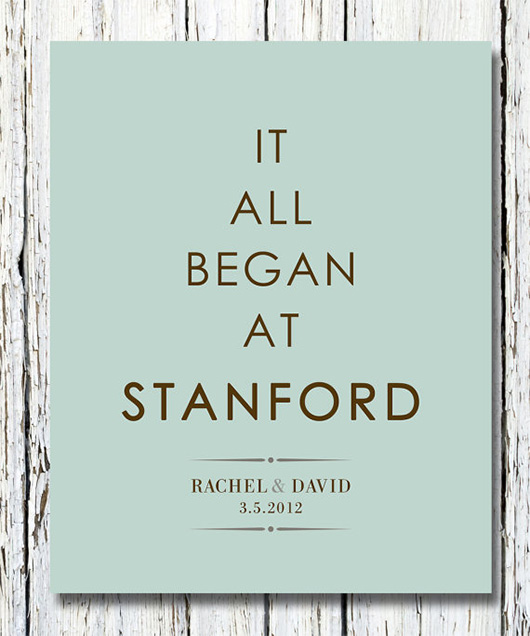 Etsy gift idea - it all began at stanford