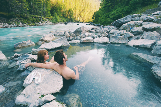 hot springs winter date idea