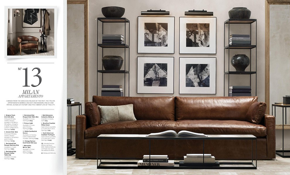 The Intentional Apartment 67 More Examples Of A Masculine Home From Pages Restoration Hardware Catalog