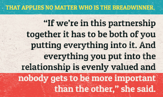Article inset quote - That applies no matter who is the bread winner
