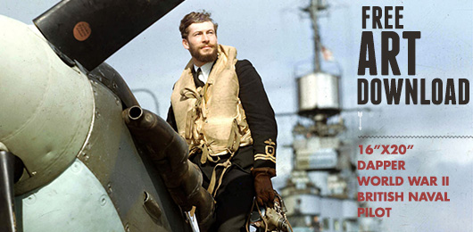 Free Art Download: Dapper World War 2 British Naval Pilot
