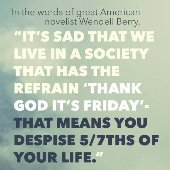 Article text inset - Its sad that we live in a society that the refrain thank god its friday