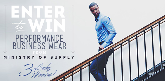 Enter to Win! Performance Business Wear from Ministry of Supply – 3 Lucky Winners!