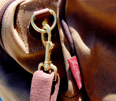 Close up of buckle on bag