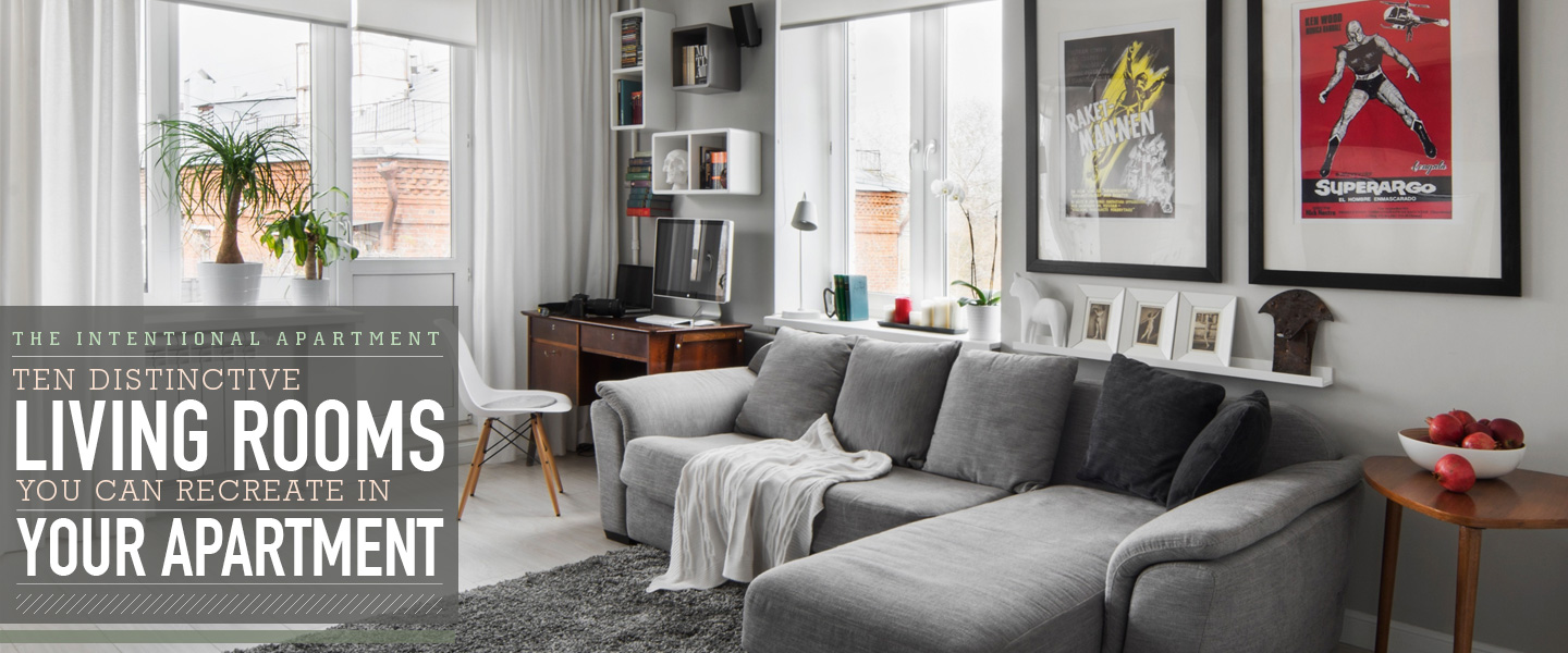 10 distinctive living rooms you can recreate in your own apartment primer. Black Bedroom Furniture Sets. Home Design Ideas