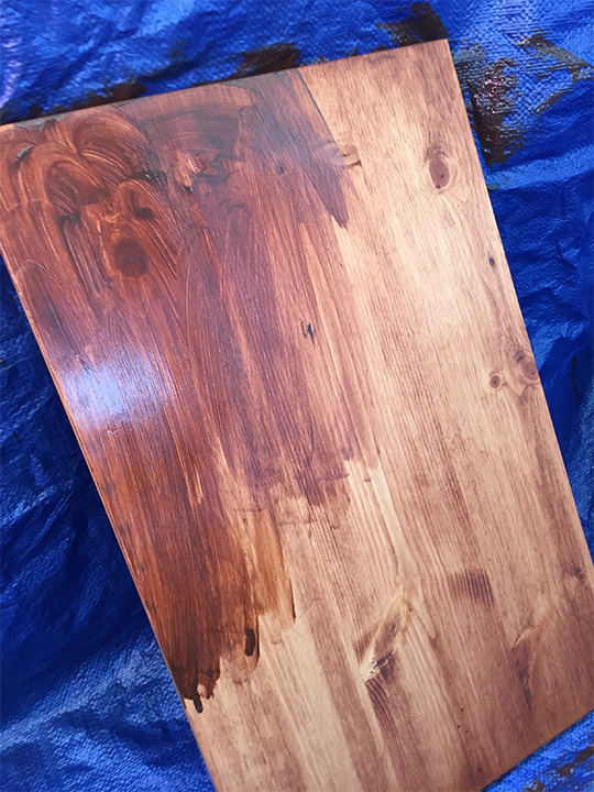 how to stain wood ikea hack