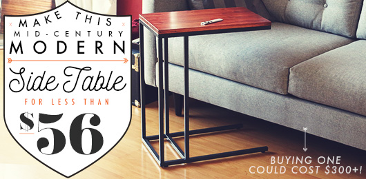 Make This Mid-Century Modern Side Table for Less Than $56!