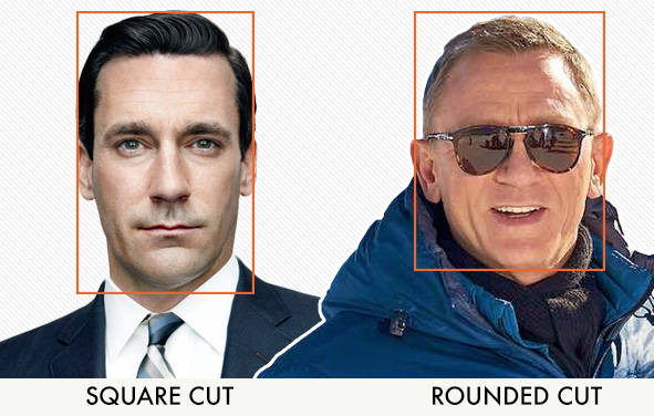 square haircut vs rounded haircut