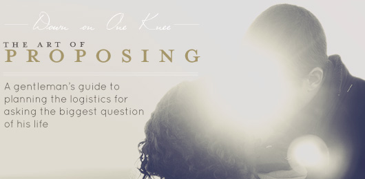 The Art of Proposing: A Gentleman's Guide to Planning the Logistics for Asking the Biggest Question of His Life