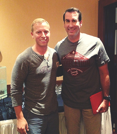 Rob Riggle and Andrew Snavely posing for the camera