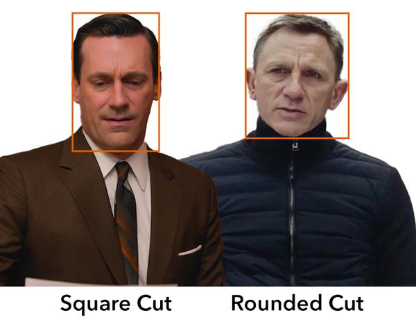 square haircut vs rounded haircut