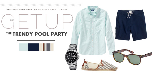 what a man should wear to a trendy pool party