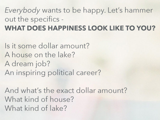 Article text inset - What does happiness look like to you