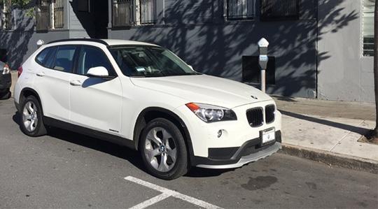 A white BMW