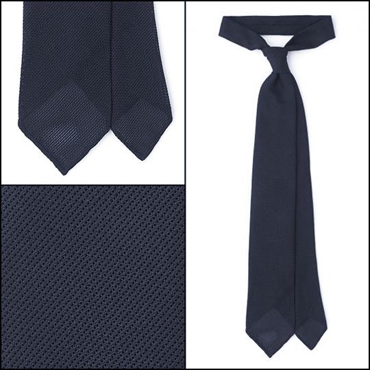 navy grenadine tie essential ties