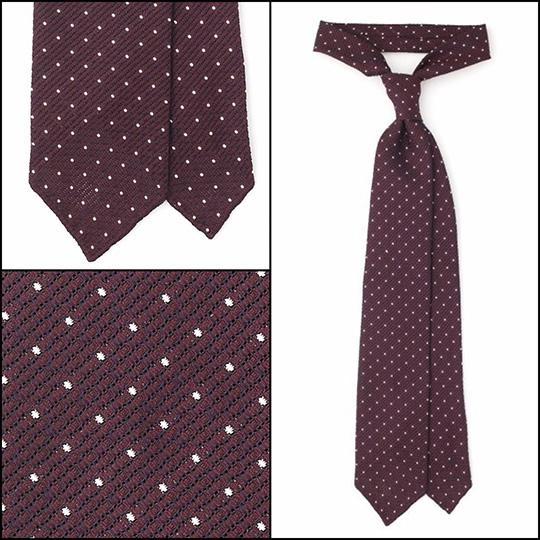 essential ties burgundy dot