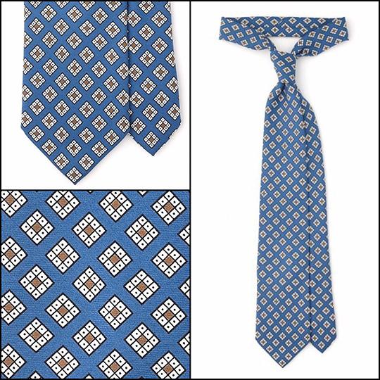 essential tie blue geometric