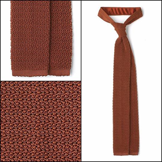 Burnt Orange knit tie