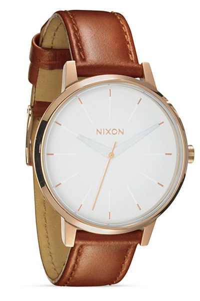 Nixon watch with white face