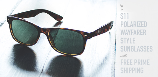 4fd820c7ed8  11 Polarized Wayfarer Style Sunglasses with Free Prime Shipping. Better  cheap sunglasses.